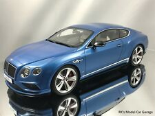GT Spirit Bentley Continental GT V8 S Resin Model Car Blue 1:18