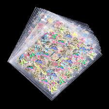 24Pcs/Set Nail Art 24 Styles Stickers 3D Bronzing Colors Butterfly Glitter Decor