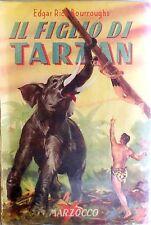I LIBRI DI TARZAN IL FIGLIO DI TARZAN MARZOCCO 1953 ROMANZO BOURROUGHS