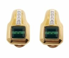 Pendientes de joyería con gemas naturales de turmalina