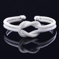 Damen Armreif Silber Knoten Bracelet Armschmuck Kette Geschenk Glitzer Luxus