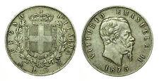 pcc1636_4) Regno Vittorio Emanuele II lire 5 scudo 1875