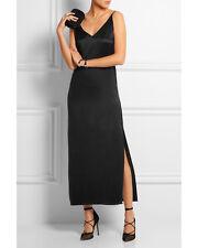 EQUIPMENT Racquel Silk Slip Dress in True Black Size Medium M