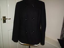 SMART BLACK WOOL BLEND JACKET SIZE 16
