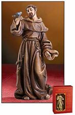 St. Francis of Assisi Patron Saint of Animals Statue 4 Inches NEW (PC947)