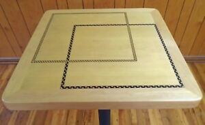 "24"" x 24""  Marquetry Inlay Maple Veneer Table Top"