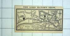 1927 Procession Of The Lord Mayor's Show Map
