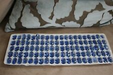200 Vintage MINI Crystal Faceted Prism Chandelier Beads 11mm PALE BLUE Lovely!