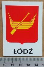 Nalepka herb Łodzi (Łódź Lodz Poland sticker coat of arms Polska polski godło