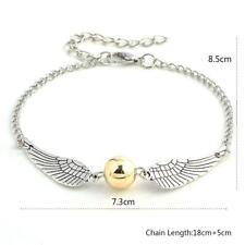 Harry Potter Bracelet SILVER Gold Snitch Charm HP Wings Costume Jewelry Cheap UK