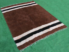 """Turkish Rug 62''x78"""" Hand Woven Siirt Mohair Tribal Tent Rug 158x200cm NO DYES"""