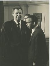 Italia, Giuseppe Guerriero con il suo difensore avvocato Fraioli Vintage silver