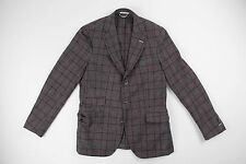 Gant Rugger 3/2 Roll Gray Houndstooth Check Wool Blazer Size 46 US 36 R $650