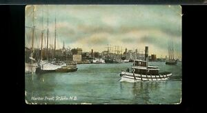 Harbour Front St. JOhn N.B.  , ship on used post card Canada