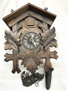 Robert Lotscher Black Forest Cuckoo Clock Switzerland FOR PARTS NOT WORKING