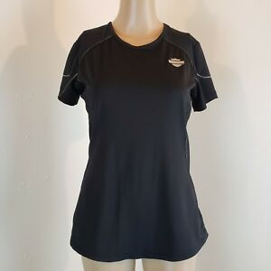 Harley Davidson Women's Performance Top Black w/ Silver Accents Size Small
