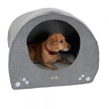 Dog Igloo Bed Cave Large Size Felt Soft Removable Cushion Comfortable