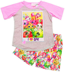 NjEW SZ 5-10 KIDS SUMMER PYJAMAS SHOPKINS TOP CHILDREN PJS CHRISTMAS GIFT PJ PJS