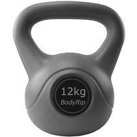 BodyRip 12kg Kettlebell Vinyl Cover Strength Training Home Gym Workout