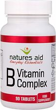 Vitamin B Complex contains B Vitamins and Folic Acid X 90 Tabs - Natures Aid