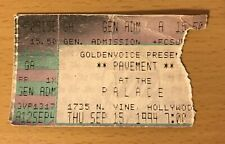 1994 Pavement The Palace Hollywood Concert Ticket Stub Crooked Rain Tour