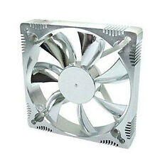 Evercool AL12025B 120mm x 25mm 12v Aluminum Low Noise Frame Case Fan Silver