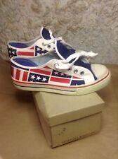 Vintage 1960s Sneakers Tennis Shoe Womens 3.5 Unworn Orig Box Usa Flag Design