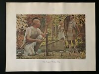 """Vintage 1968 """"An Iroquois Hunting Party"""" No. 780 Print"""