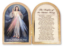 DIVINE MERCY JESUS FOLDING WOODEN PLAQUE PICTURES CANDLES CROSSES STATUES LISTED