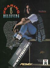 Steve Brown (Trixter) 1993 Peavey EVH 5150 guitar amp ad 8 x 11 advertisement