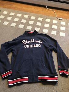 Chicago Blackhawks CCM Pro Ok'd Zip Zip Up Jacket Sizs 2XL