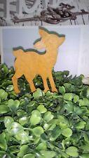 Edelrost Bambi Garten Advent Stecker Metall Rehkitz Weihnachten Landhaus Shabby
