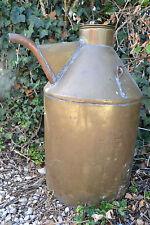 Enorme bidon ou jerrican à huile ou eau en cuivre avec verseur, poignée et anse