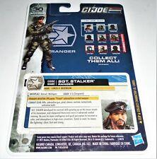 G I JOE File I.D. Card Filecard 30th Anniversary     2011 Sgt Stalker V13 UNCUT