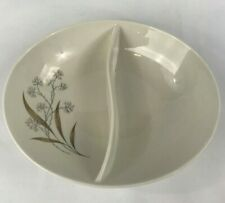 Carefree True China by Syracuse, Oval Divided Vegetable Bowl, Windswept Pattern