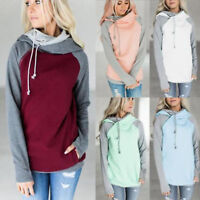 Women's Hoodies Hooded Sweatshirts Hoody Jumper Long Sleeve Tops Pullover AU