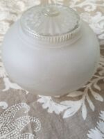 """Glass Flush Mount Ceiling Fixture Frosted 6"""" Diameter 3"""" Opening Floral"""