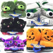 BUILD-A-BEAR Kids' Slippers - Pumpkin, Zombie, Bat, Black Cat, Mummy Halloween