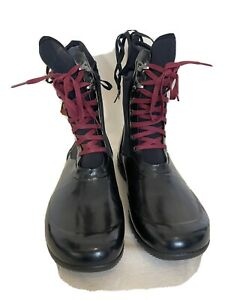 BOGS Womens Boots Sidney Lace Solid Black RRP $240.00