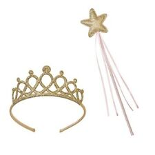 Talking Tables Tiara And Fairy Wand Gold Set | Great For Princess Dress Up, Fai