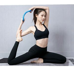 Yoga Circle Stretch Resistance Ring Pilates Bodybuilding Fitness Workout Tools