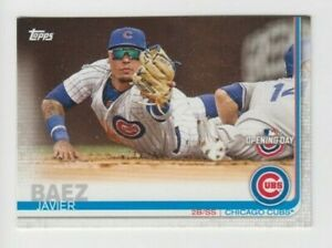 (12) Javier Baez 2019 TOPPS SERIES OPENNING DAY CARD LOT #95 CHICAGO CUBS / METS