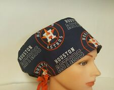 (Inspired ) HOUSTON  ASTROS / NFL FANS  PIXIE HAT  / SURGICAL SCRUB / CHEMO