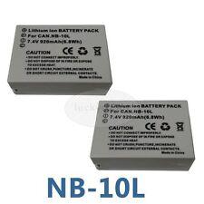2pack Battery for Canon G1 X, G15, G16, SX40 HS, SX50 HS NB 10L, NB10L,
