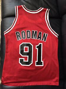 GHJK Chicago Bulls Dennis Rodman 91# Basketball Jerseys,Mens Youth College Running Playing Basketball Crew Neck Embroidery Sleeveless Sports top Ladies Dress Neutral