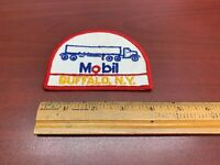 Vintage Mobil Oil Gas Tanker Truck Driver Sew-on Work Shirt Patch BUFFALO NY