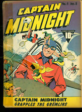 Captain Midnight 4 Good reader copy 1942 Fawcett WWII era