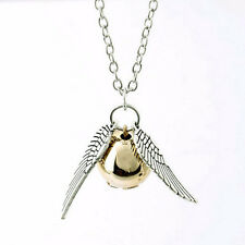 HARRY POTTER SNITCH COSPLAY NECKLACE GOLDEN SNITCH HERMIONE PENDANT #3
