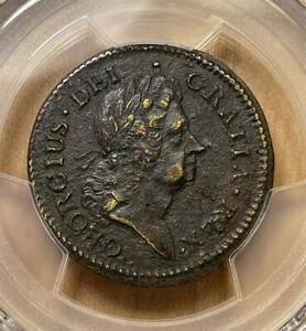 1722 PCGS XF Detail Rosa Americana Colonial USA Copper Penny Scarce
