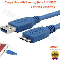 3ft 6ft 10ft 15ft Micro USB 3.0 Cable AMAMBM for Printer Cell Phone Charging S5